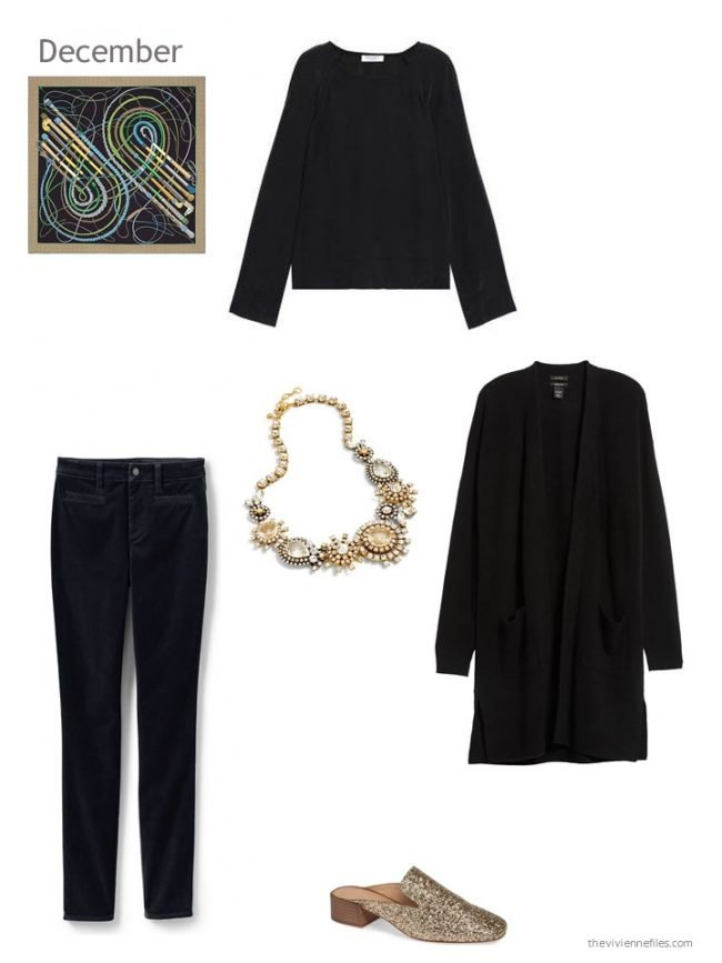 1. black dressy outfit for December