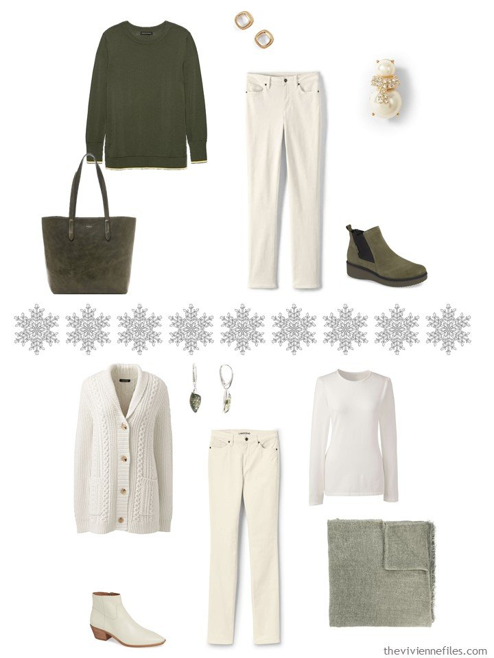 10. Accessorizing a Winter White capsule wardrobe with Terrarium Moss