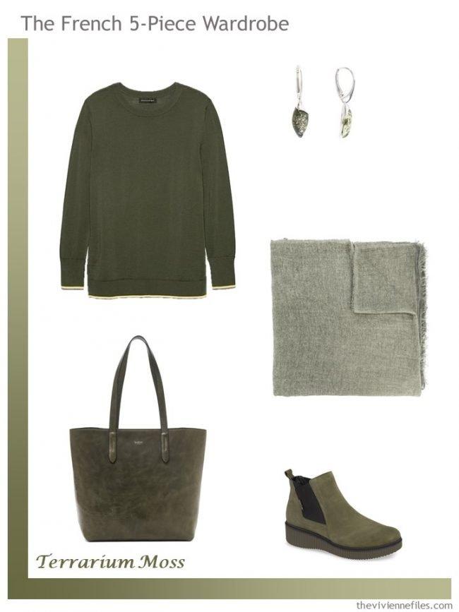 11. Pantone Terrarium Moss French 5-Piece Wardrobe