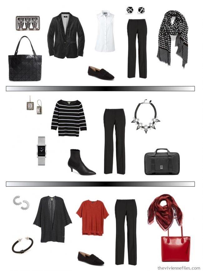 14. 3 ways to wear black pants in a capsule wardrobe