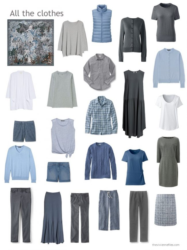 18. blue and grey capsule wardrobe
