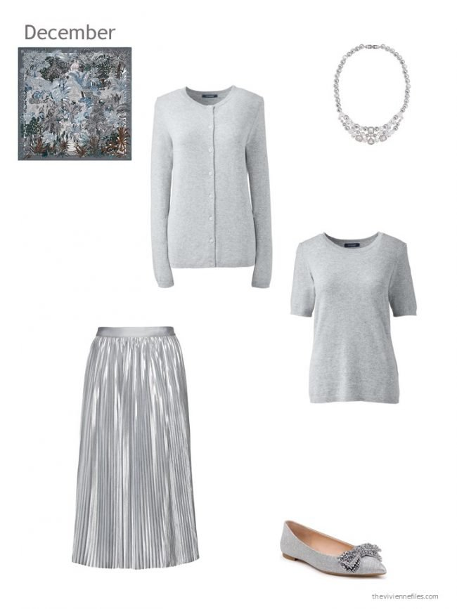 23. grey and silver holiday outfit