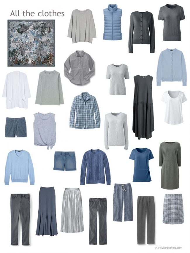 24. capsule wardrobe in shades of grey and blue