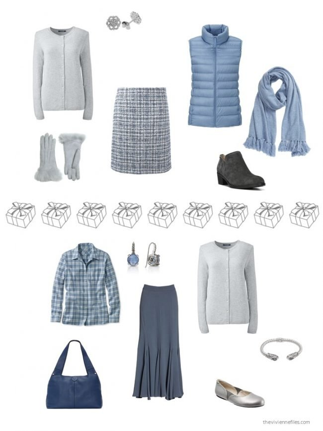 26. 2 ways to wear a grey cashmere cardigan from a capsule wardrobe