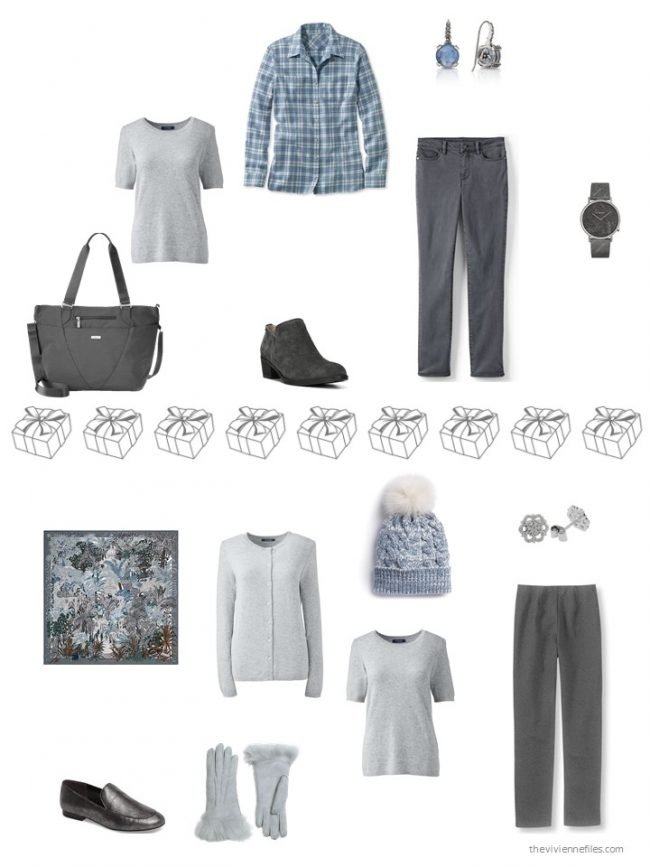 27. 2 ways to wear a grey cashmere tee from a capsule wardrobe