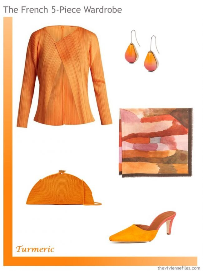 3. Pantone Turmeric French 5-Piece Wardrobe