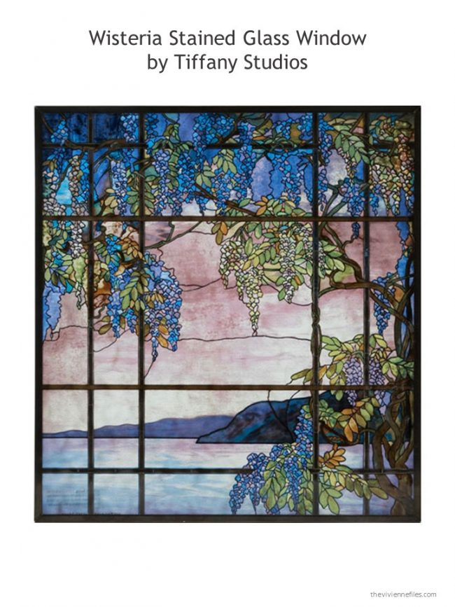 3. Wisteria Stained Glalss Window by Tiffany Studios