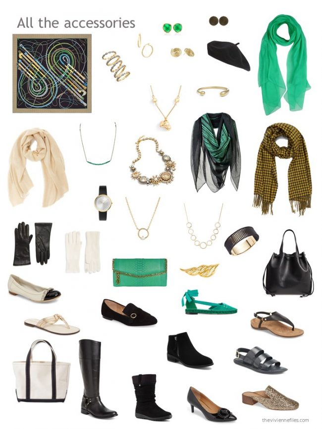 3. accessories for a black-based wardrobe