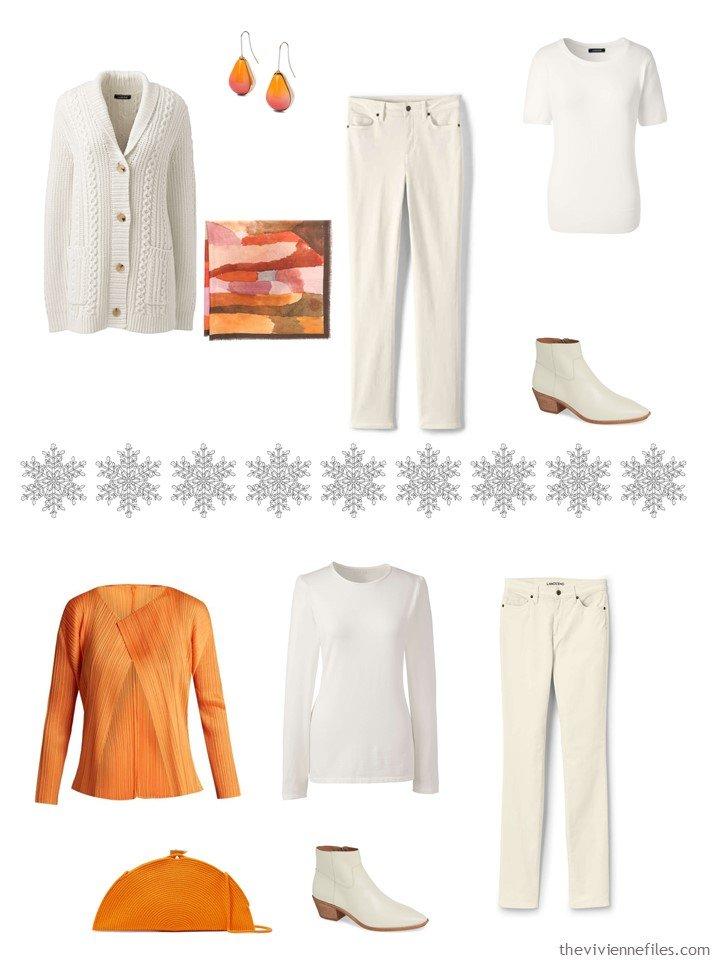 4. Accessorizing a Winter White capsule wardrobe with Turmeric