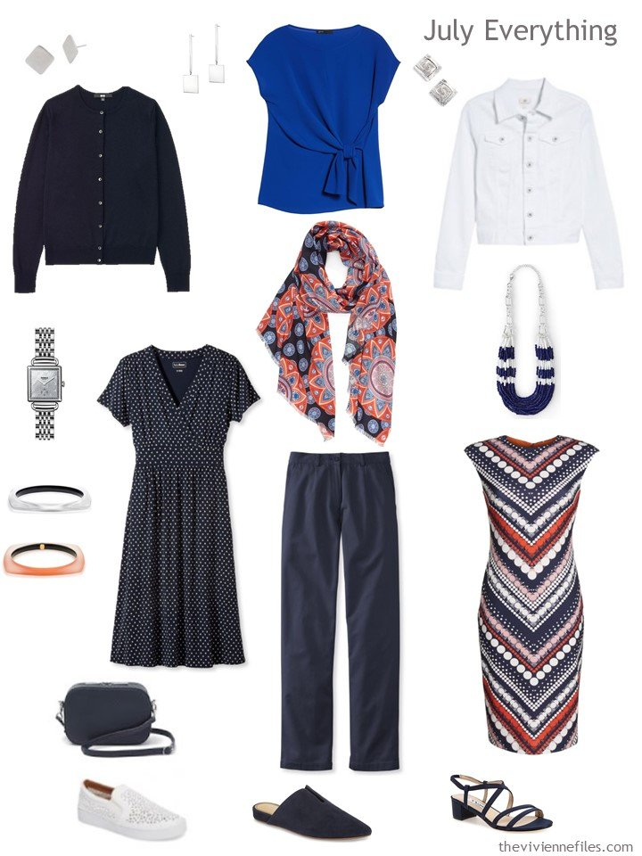 5. travel capsule wardrobe based on A Study in Verticals by Kupka