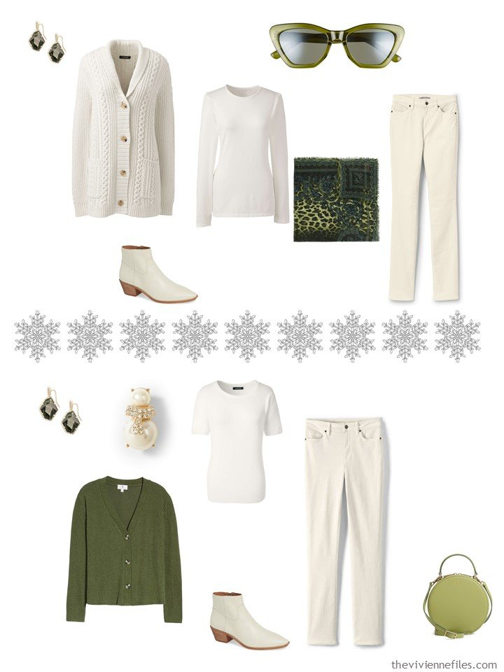 6. Accessorizing a Winter White capsule wardrobe with Pepper Stem