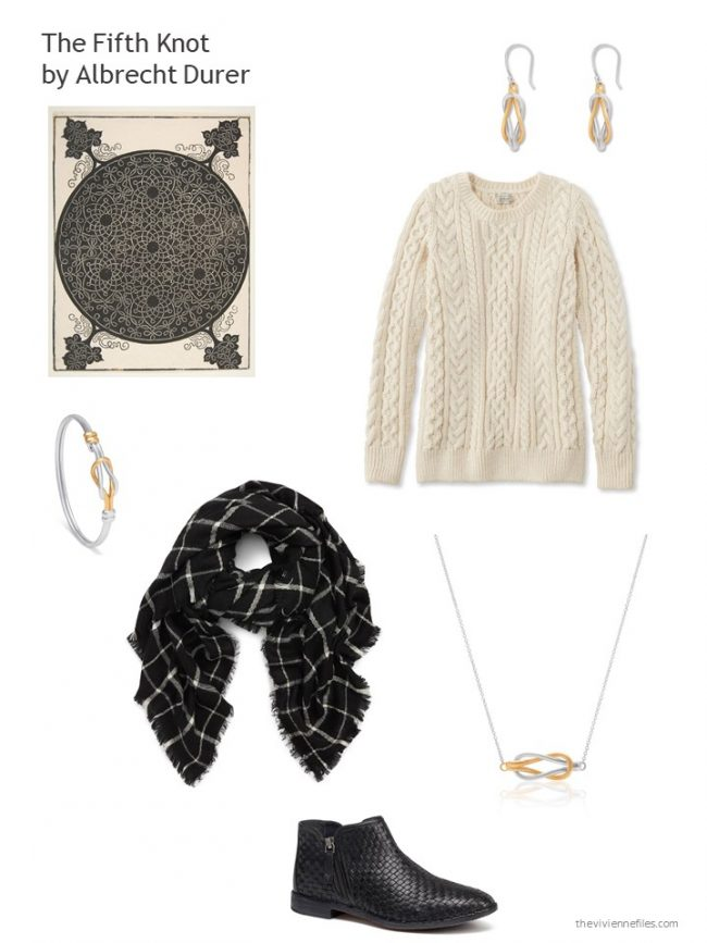 6. Neutral sweater with related accessories