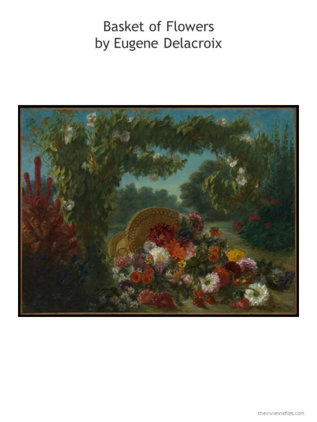 7. Basket of Flowers by Eugene Delacroix