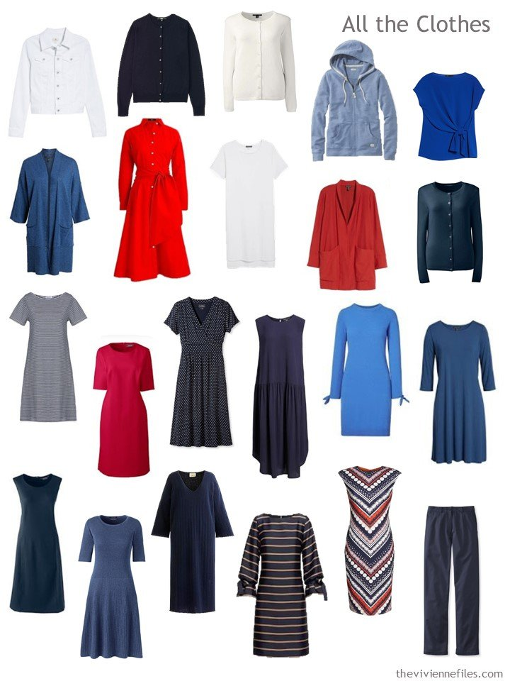 7. Capsule wardrobe based on A Study in Verticals by Kupka