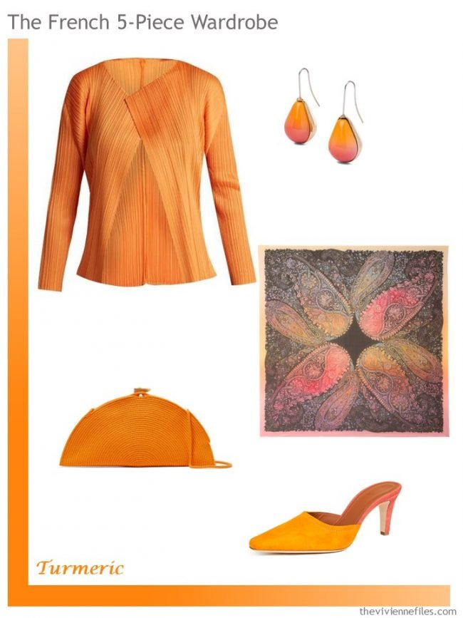 7. Turmeric colored French 5-Piece Wardrobe