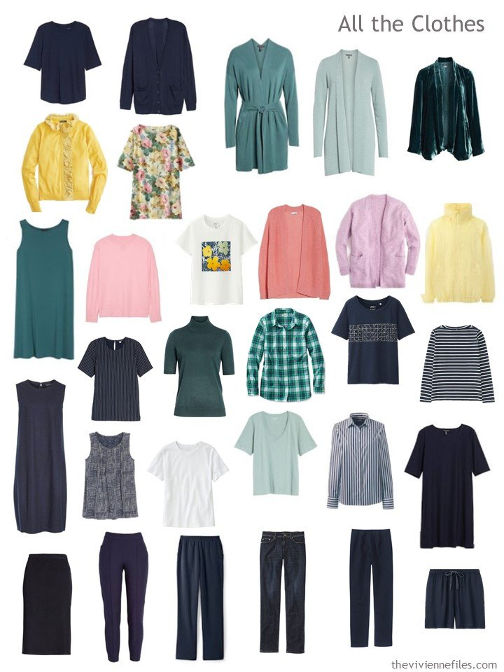 7. capsule wardrobe based on the colors in Shallow Deep by Kandinsky