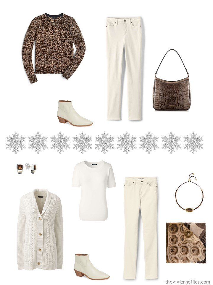 8. Accessorizing a Winter White capsule wardrobe with Toffee