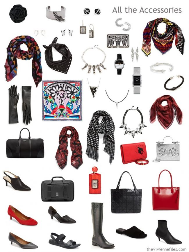 8. Accessory Wardrobe in black, white, red and blue