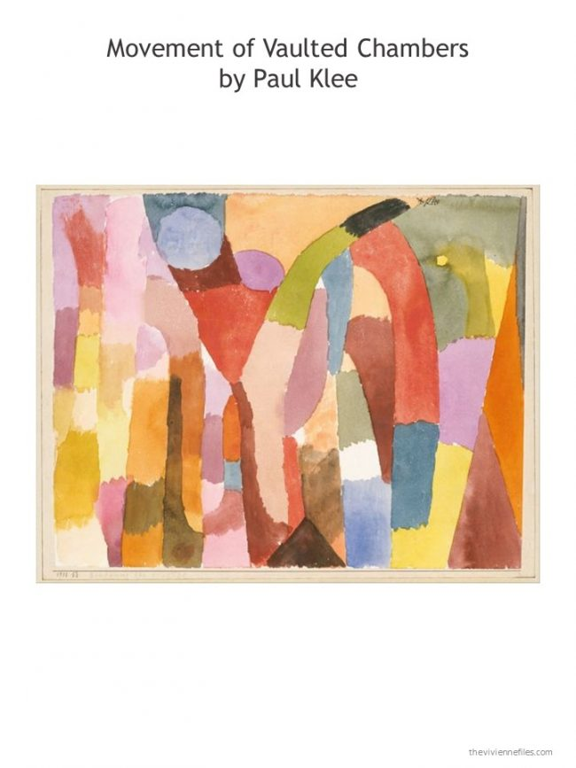 9. Movement of Vaulted Chambers by Paul Klee