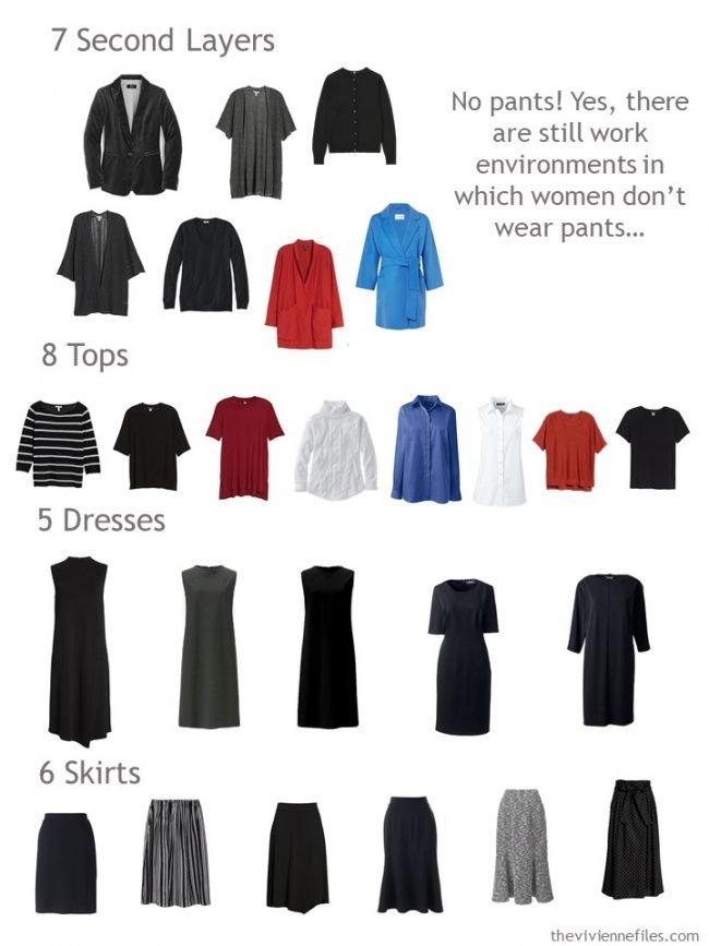 9. capsule wardrobe sorted by garment type
