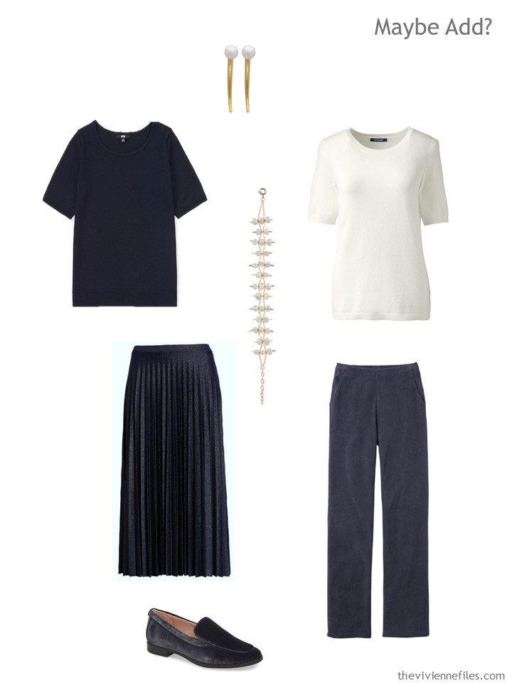 9. navy and ivory additions to a capsule wardrobe