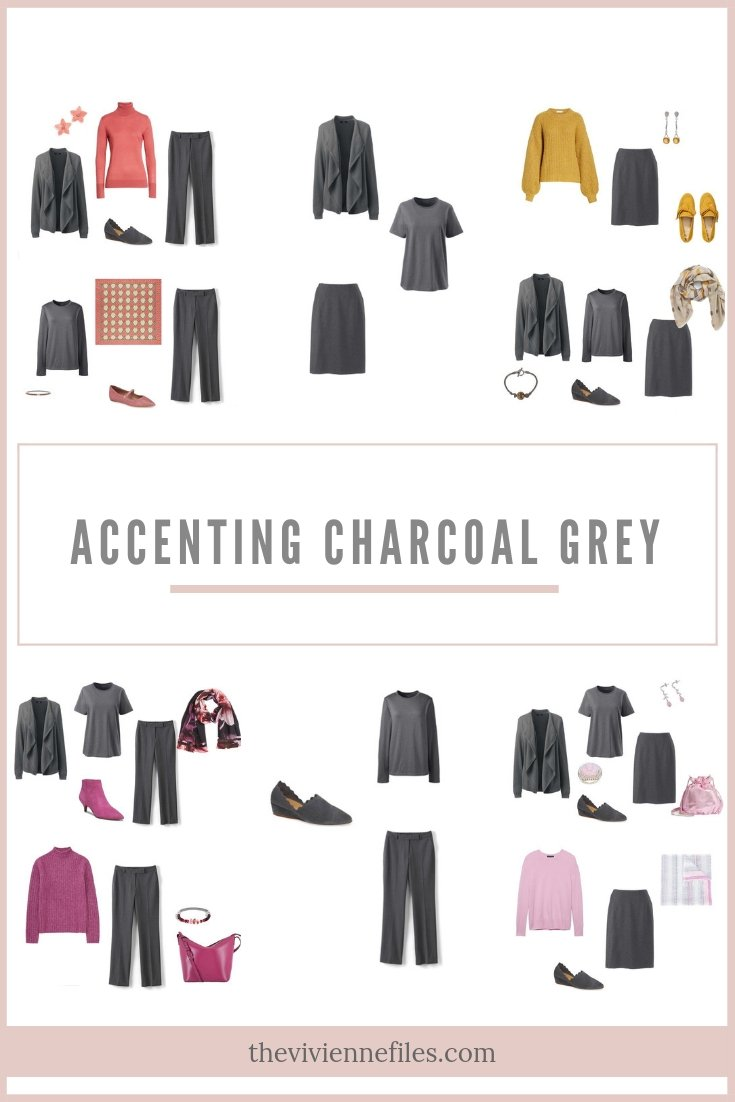 ACCENTING CHARCOAL GREY WITH 4 PANTONE SPRING 2019 COLORS