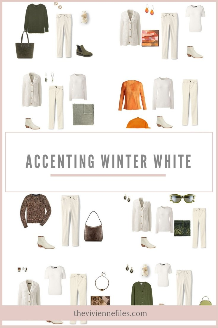 ACCENTING WINTER WHITE WITH 4 PANTONE SPRING 2019 COLORS
