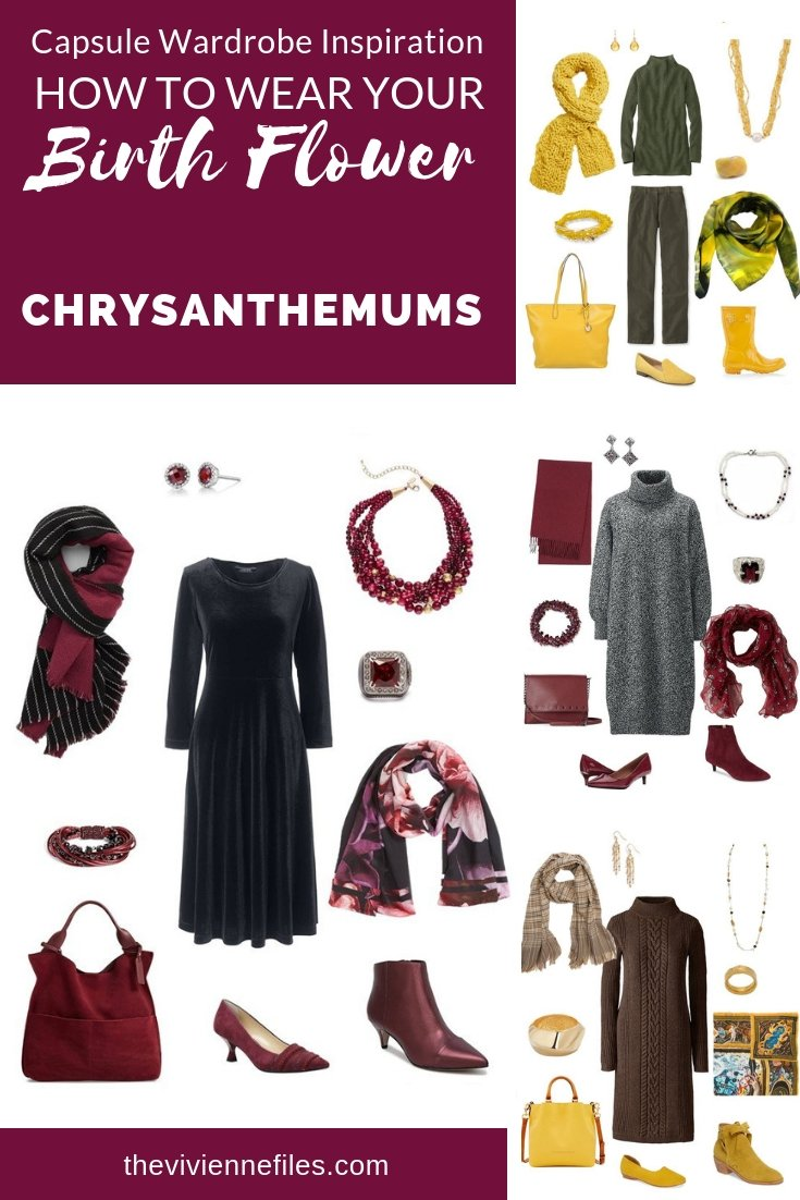 A TRAVEL CAPSULE WARDROBE INSPIRED BY CHRYSANTHEMUMS - THE BIRTH FLOWER FOR NOVEMBER