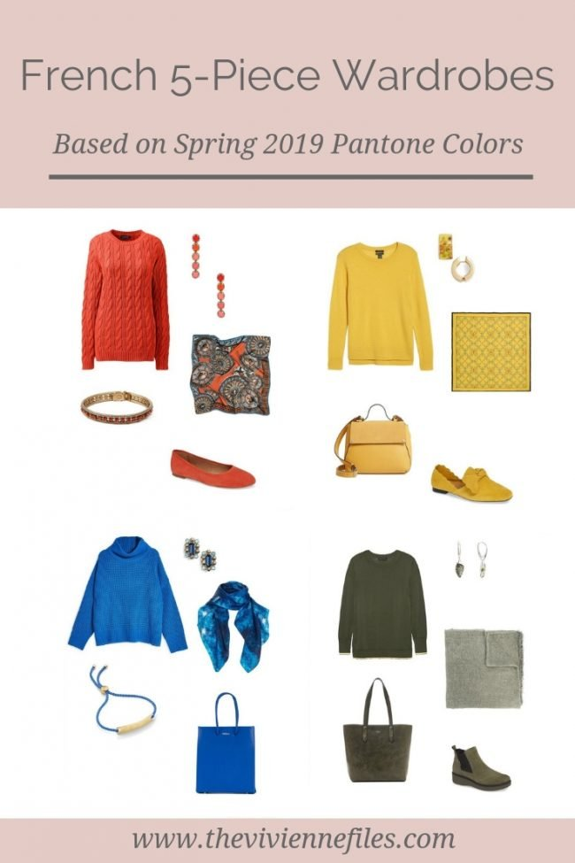 FRENCH 5-PIECE WARDROBES BASED ON PANTONE SPRING 2019 COLORS