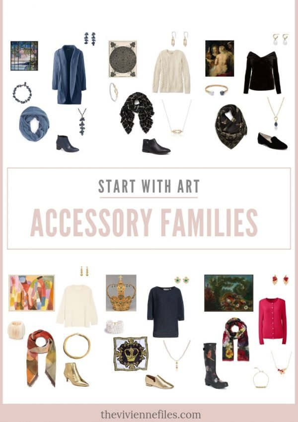 START WITH ART TO BUILD AN OUTFIT OR ACCESSORY FAMILIES
