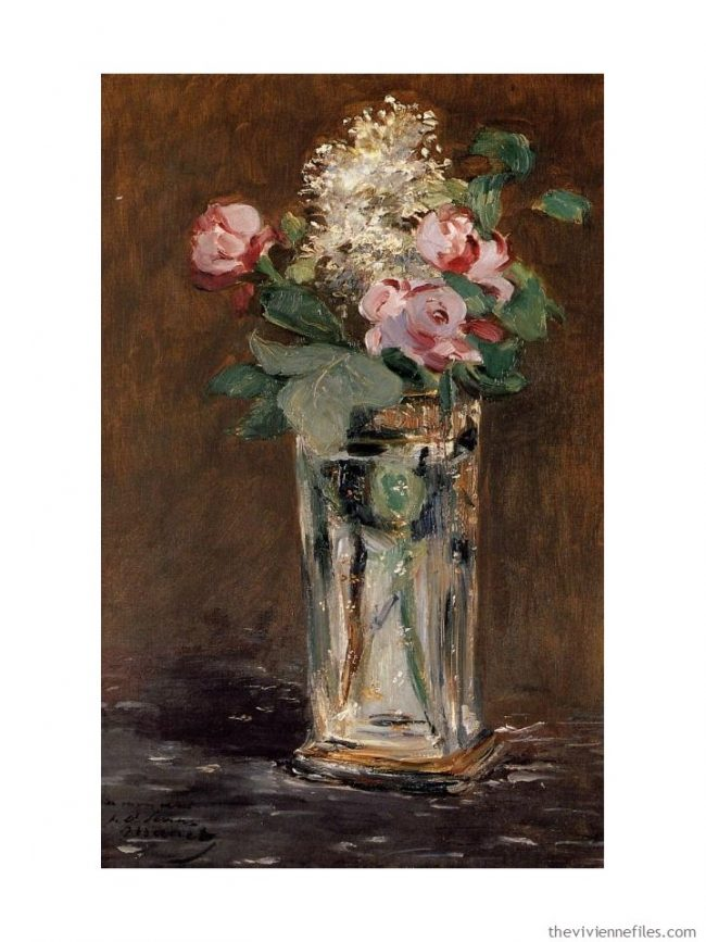 1. Flowers in a Crystal Vase by Manet