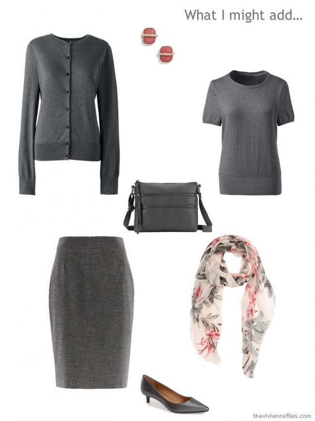 10. adding a grey outfit to a capsule wardrobe