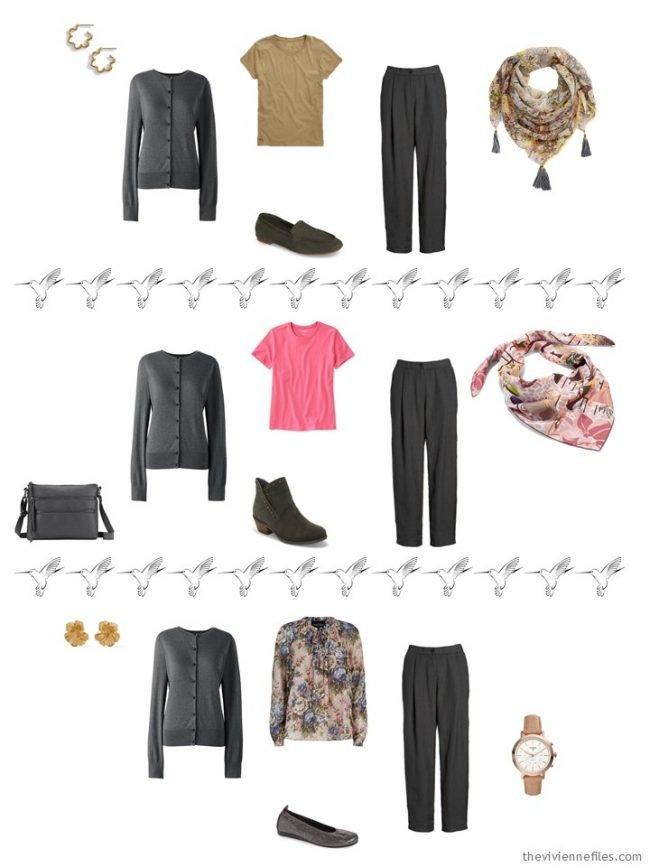 11. 3 ways to wear a grey cardigan in a capsule wardrobe
