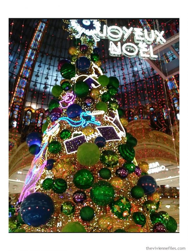 11. Galleries Lafayette Christmas tree
