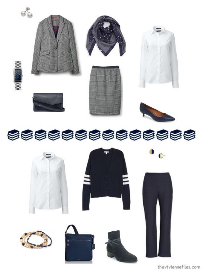 13. 2 ways to wear a white shirt in a navy and white capsule wardrobe