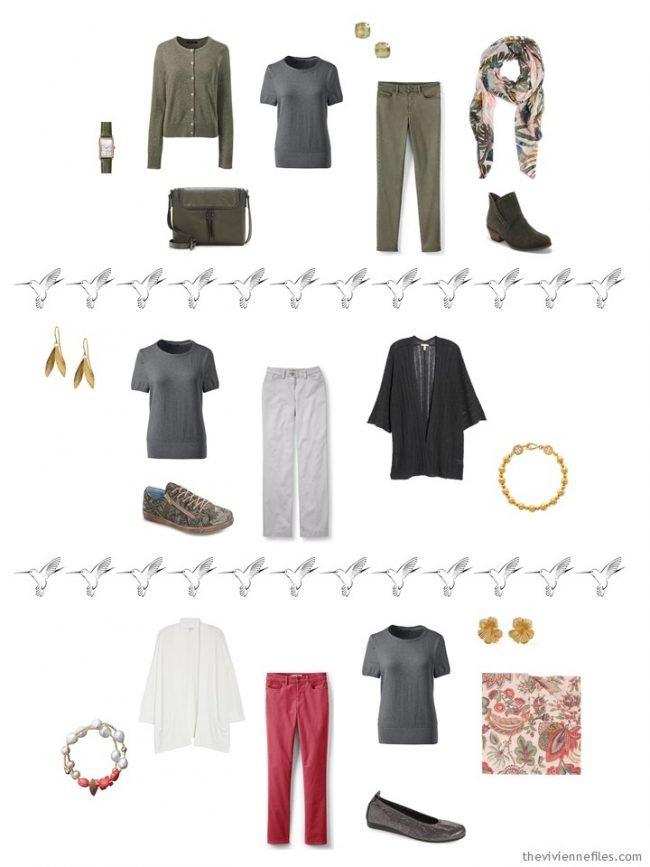 13. 3 ways to wear a grey sweater in a capsule wardrobe