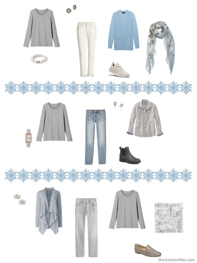 13. adding a grey tee shirt to a capsule wardrobe