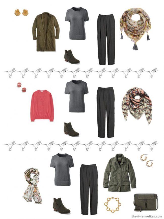 14. 3 ways to wear a grey sweater in a capsule wardrobe