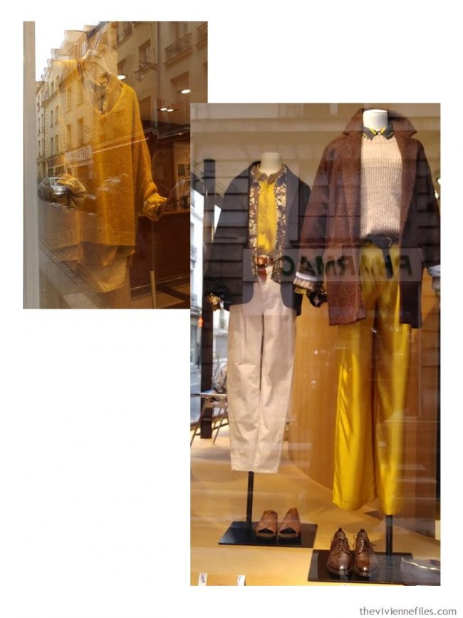 2. goldenrod clothes in Paris store windows