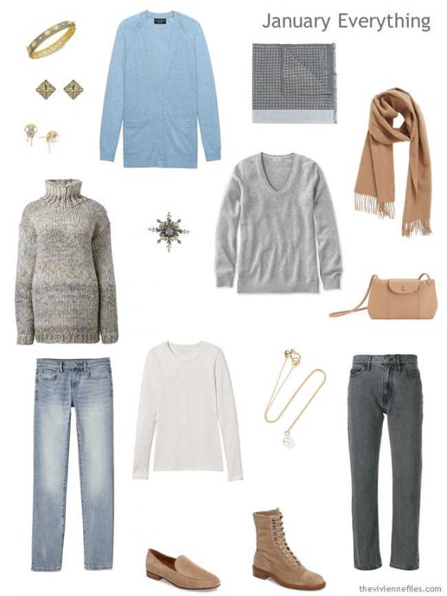 3. January travel capsule wardrobe