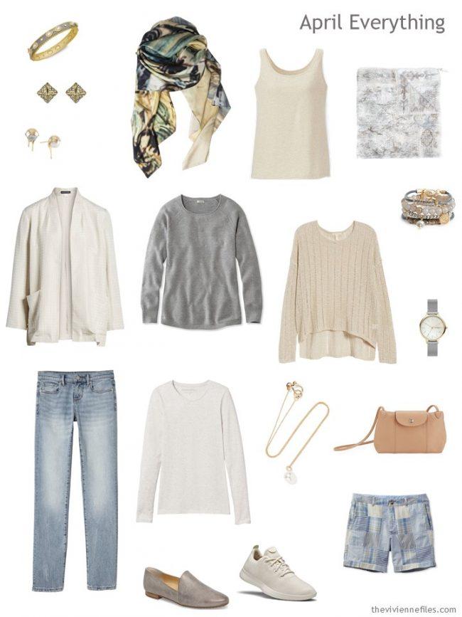 4. Spring travel capsule wardrobe