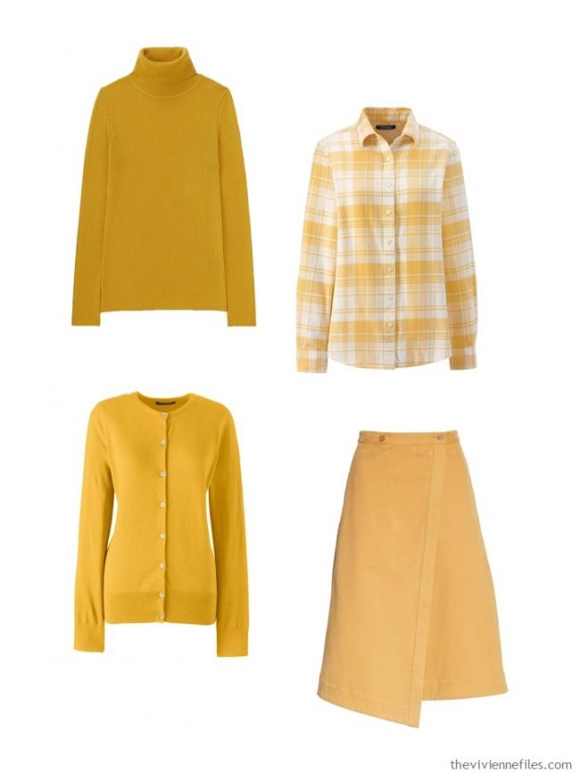 4. adding goldenrod accents to a wardrobe
