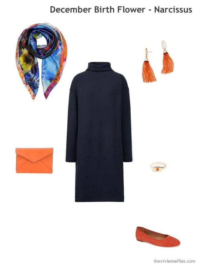 4. adding orange accents to navy