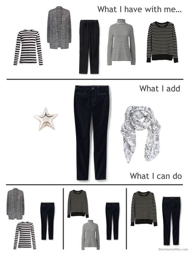 4. adding velvet jeans to a travel capsule wardrobe