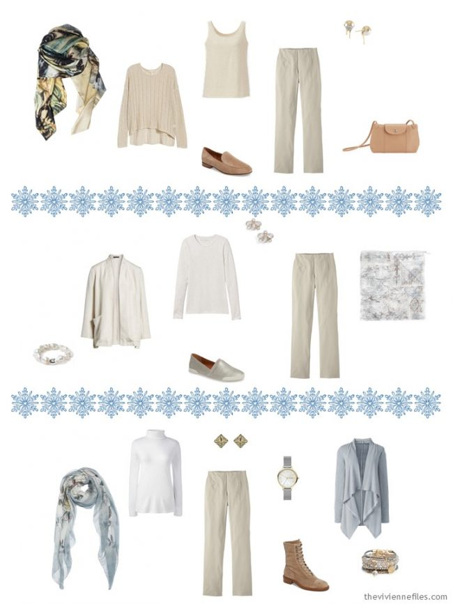 5. adding beige pants to a capsule wardrobe