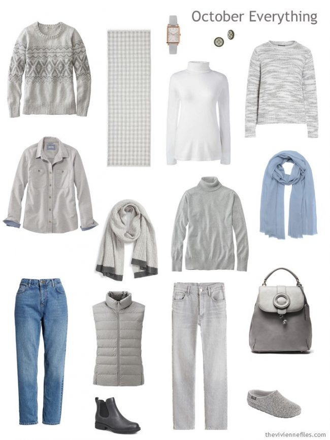 6. Autumn travel capsule wardrobe