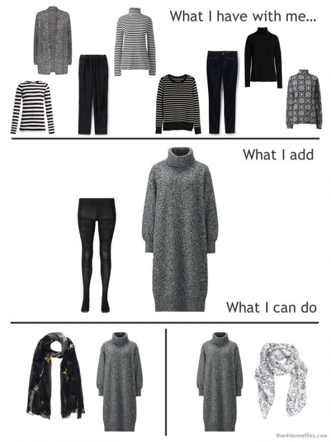 7. adding a dress to a travel capsule wardrobe