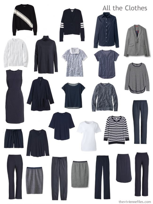 7. capsule wardrobe in navy and white