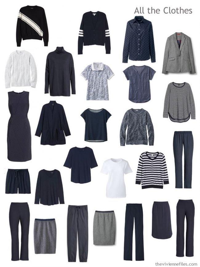 7. capsule wardrobe in navy and white