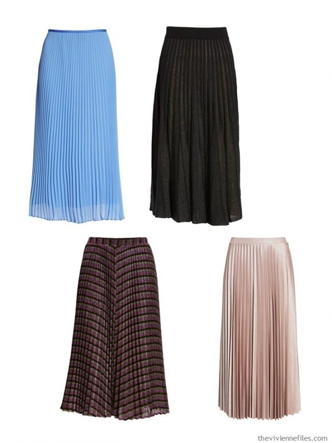 8. crystal pleated skirts